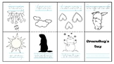 Groundhog's day mini booklet