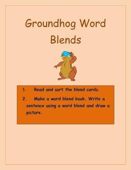 Groundhog word Blend Center Activities