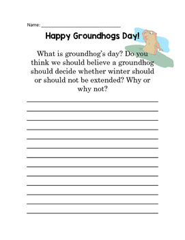 Groundhog writing assignment