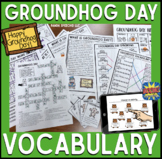 GroundhogDay Vocabulary NO Prep Packet  Elementary SS, ELA