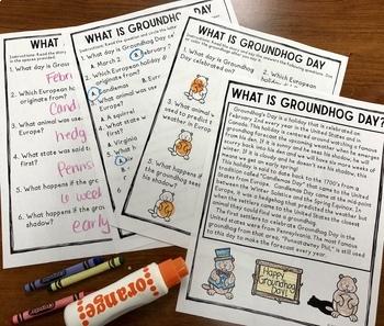Groundhog Day Vocabulary NO Prep Packet