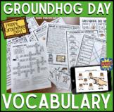 Groundhog Day Vocabulary NO Prep Packet + BOOM Cards (Digi