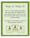 Groundhogs 10 Frame. Ways to Make 10 and Addition