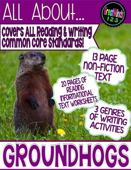 Groundhogs Complete  Reading and Writing Unit {Common Core