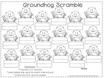 Groundhog's Day 1st Grade Literacy Pack (7 CCSS Centers)