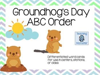 Groundhog's Day ABC order center