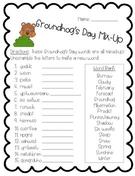 Groundhog's Day Activity Pack - Math, Literacy, and Writing