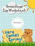 Groundhog Day CVC Worksheet