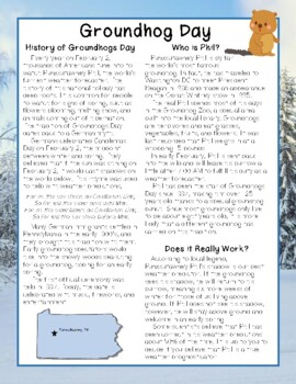 Groundhogs Day Close Reading Passage and Questions