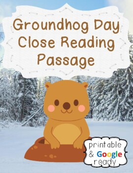 Groundhogs Day Close Reading Passage