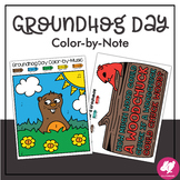 Groundhog Day Music Coloring: Color-by-Music