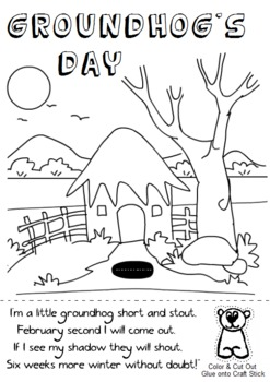 groundhog day coloring pages preschool - photo#18