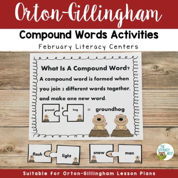 February Centers Groundhog Day Compound Words