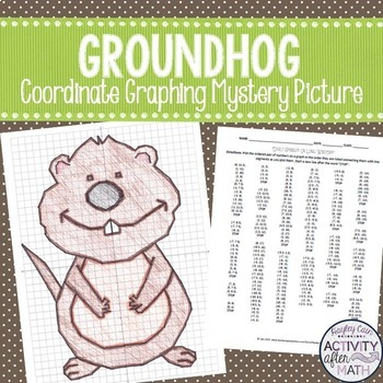 Groundhog's Day Coordinate Graphing Ordered Pairs Mystery Picture
