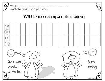Groundhog's Day Activity and Craft FREEBIE