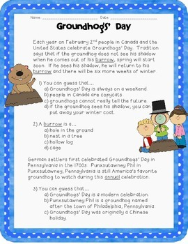 Groundhog's Day: Drawing Conclusions