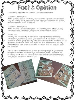 Groundhog's Day Fact & Opinion Interactive Notebook/Center Activity