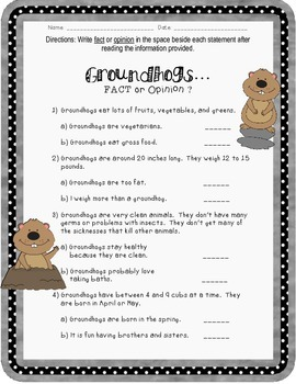 Groundhog's Day: Fact and Opinion
