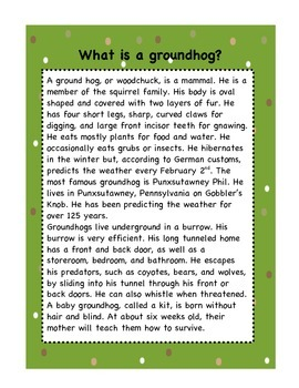 Groundhog's Day Fun