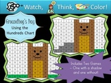 Groundhog's Day Hundreds Chart Fun - Watch, Think, Color Mystery Pictures