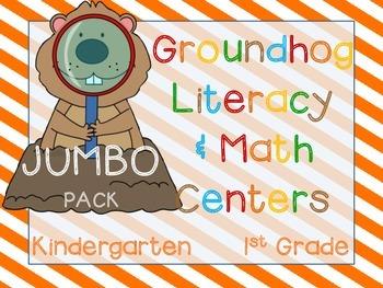 Groundhog's Day JUMBO Pack (38 K-1 CCSS Centers)