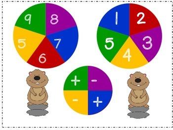 Groundhog's Day Kindergarten Math Pack (9 CCSS Centers)