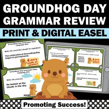 Groundhog Day Activities, Language Arts Centers, ESL Activities