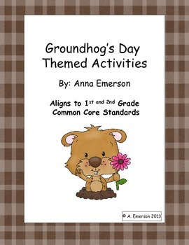 Groundhog's Day Language and Math Activities Common Core Aligned