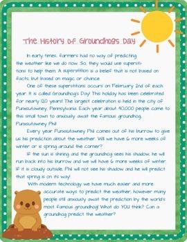 Groundhog's Day Literacy Bundle