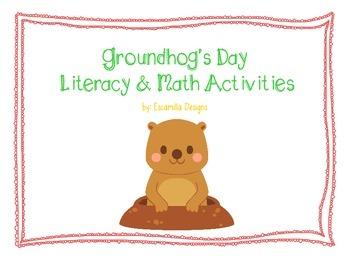 Groundhog's Day Math & Literacy Center Bundle