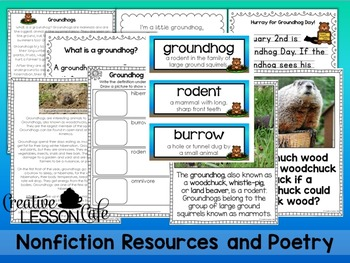 Groundhog Day Integrated Unit- Informational Text, Activities, Craft and More!