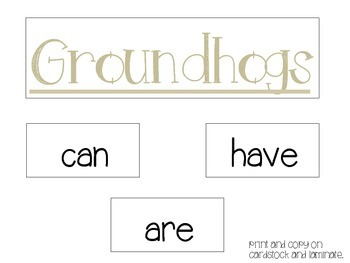 Groundhog's Day Math and Science Packet