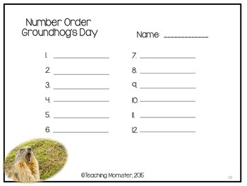 Groundhog's Day Number Order