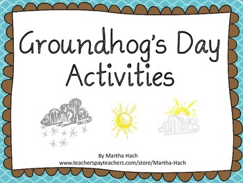 Groundhog's Day Primary Activities