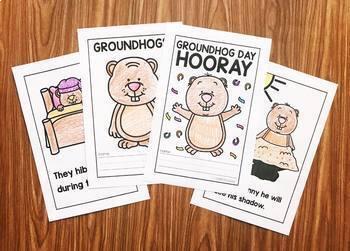 Groundhogs Day Activities for Kindergarten - Reader