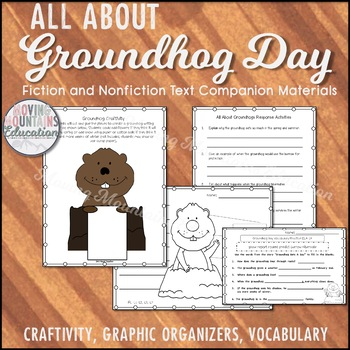Groundhogs Day Fiction and Nonfiction Unit, Vocabulary, Reading Response