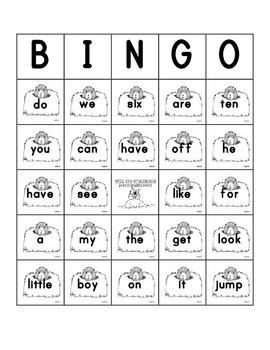 Groundhogs Day Sight Word Bingo Sheets