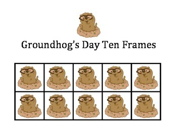 Groundhog's Day Ten Frames