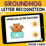 Groundhogs Day Uppercase Letter Recognition Boom Cards