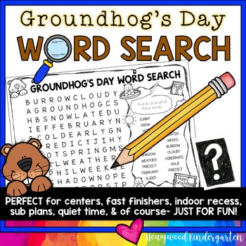 Groundhogs Day Word Search Puzzle