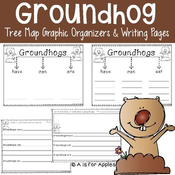 Groundhogs Tree Map Graphic Organizers