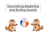 Groundhogs Playing Ball Beginning and Ending Sounds Common Core Standards