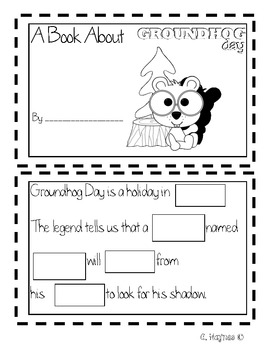 Groundhog's Shadow math and literacy activities for Groundhog Day