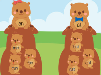 Groundhogs Short a Word Family Sort (Great for Google Classroom!)