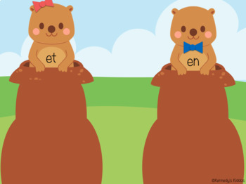 Groundhogs Short e Word Family Sort (Great for Google Classroom!)
