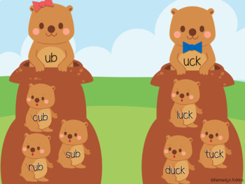 Groundhogs Short u Word Family Sort (Great for Google Classroom!)