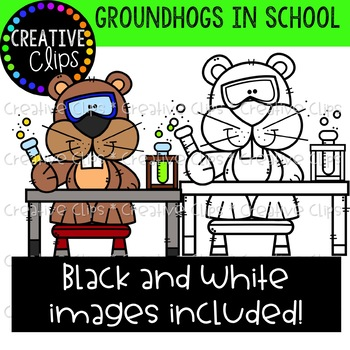 Groundhogs at School {Creative Clips Clipart}