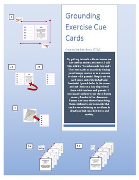 """Grounding Exercise Cue Cards - """"Countdown to Ground"""""""