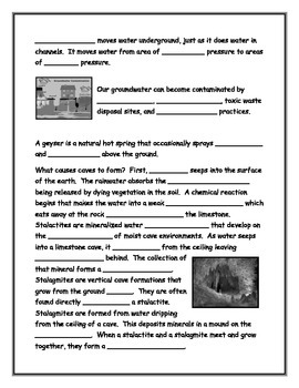 Groundwater Note-Taking Guide