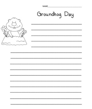 Grounghog Day Writing Worksheet